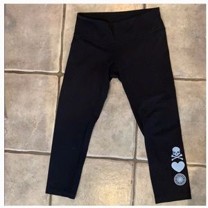 Lululemon Athletica x Soul cycle skull heart wheel